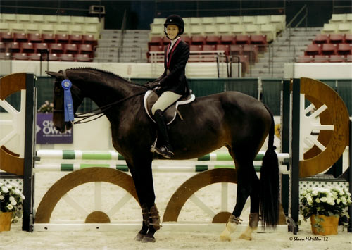 Alexandra Worthington and Romina Equitation 12 & Under 2012 Capital Challenge Photo McMillen