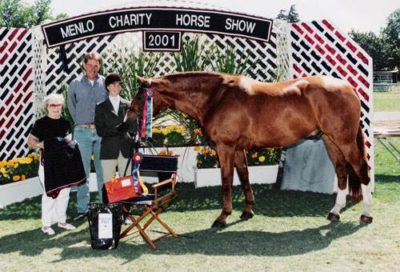 Alison Agley and Archie Champion Amateur Owner Hunters 18-35 2001 Menlo Charity Horse Show Photo JumpShot