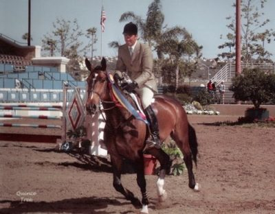 Archie Cox and Diadem owned by Erin Chiamulon Winner $15,000 Del Mar Equitation Classic 2002 Del Mar National Photo Quince Tree
