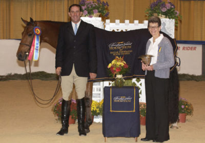 Archie Cox and White Oak owned by Delanie Stone Champion Regular Conformation Hunter 2007 Pennsylvania National Photo Randi Muster