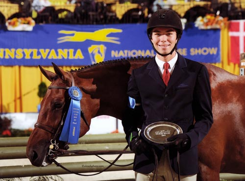 Chase Boggio and Kennzo de Canto Small Junior Hunter 16-17 2011 Pennsylvania National Photo Al Cook