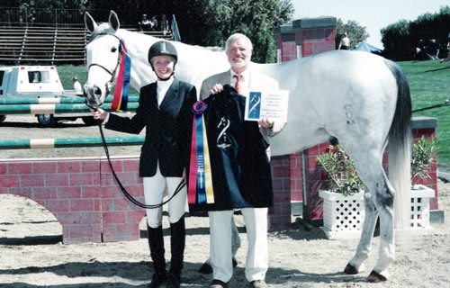 Gail Barrett and Puttin on the Ritz Champion Adult Amateur Jumpers 2004 HITS Desert Circuit Photo Flying Horse