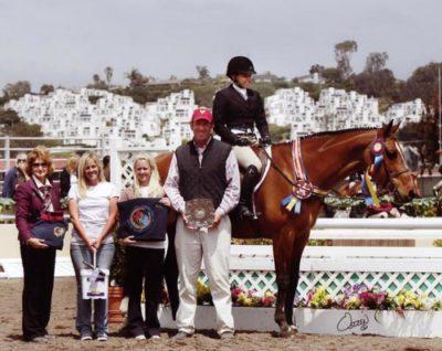 Laura Wasserman and Overseas Winner Amateur Owner Hunter Classic 2011 Del Mar National Photo Osteen