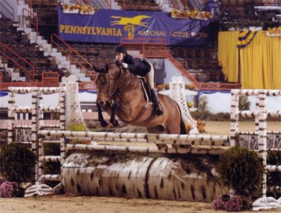 Nicole Hasteltine and Vedette Amateur Owner Hunters 2009 Pennsylvania National Photo Al Cook
