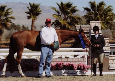 Polly Sweeney and Duet Champion Amateur Owner Hunter 36 & Over 2012 HITS Desert Circuit Photo Flying Horse