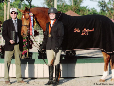 Stephanie Danhakl and Lifetime 2003 & 2004 USEF National Champion 2004 National Horse Show Photo Randi Muster
