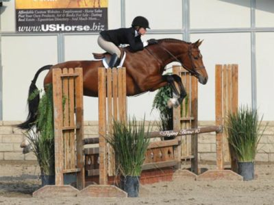Teddi Mellencamp and Skyline owned by Edwin Arroyave Pregreen Hunters 2010 LA Preview Photo Flying Horse