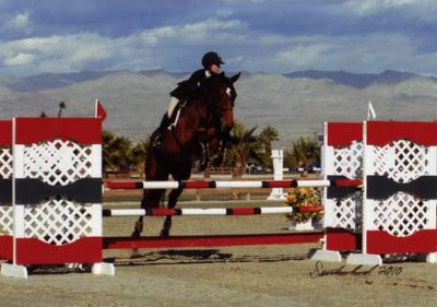 Zoie Nagelhout and Olympia owned by New Market Inc Winner CPHA M&S Medals and WCE 2010 HITS Desert Circuit Photo Flying Horse