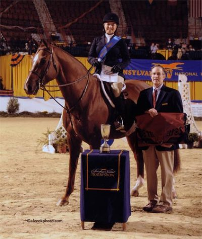 Alex Arute and Red Rooster Best Child Rider 2009 Pennsylvania National Photo Al Cook