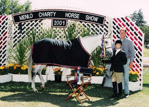 Jill Carter and Miss Charlotte Champion Adult Amateur Hunters and Best Adult Rider 2001 Menlo Charity Horse Show Photo JumpShot