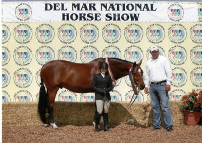 Laura Wasserman and Back in the Game Champion Amateur Owner Hunter 36 & Over 2013 Del Mar National Photo Osteen