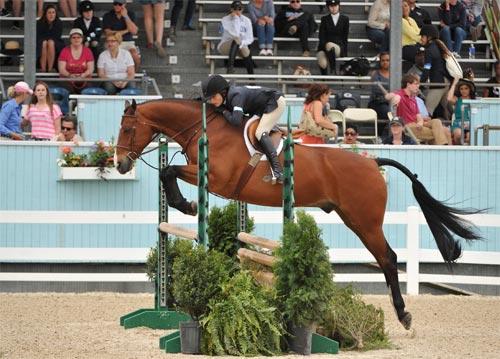 Lily Blavin and Montague Large Junior Hunter 16-17 2014 Devon Horse Show Photo The Book LLC