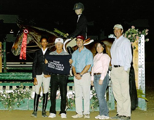 Lucy Davis and Diadem Reserve Champion 2005 Onondarka Medal Finals Los Angeles National at the Los Angeles Equestrian Center
