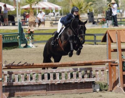 Lucy Davis and Thoughtful owned by Laura Wasserman 2013 HITS Desert Circuit Photo Flying Horse