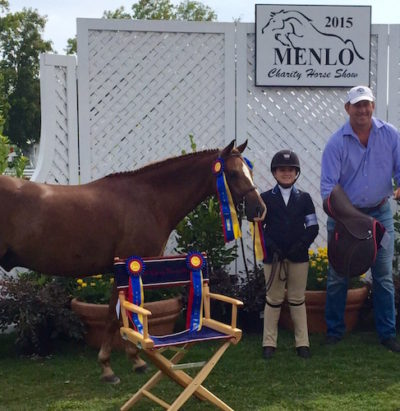 Stella Wasserman and Benjamin Buttons Small Pony Hunter 2015 Menlo Charity Horse Show
