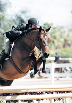 Stephanie Danhakl and Callaway 2004 HITS Desert Circuit Photo Flying Horse