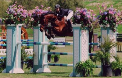Zoie Nagelhout and Vitoria Champion Modified Junior Amateur Jumper 2011 Blenheim Red White and Blue Classic Photo Flying Horse