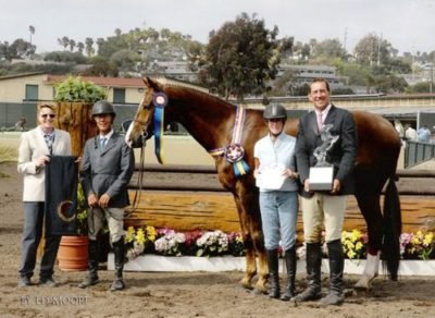 John French and Andiamo owned by Janie Andrew Grand Champion 2nd Year Green Champion Regular Working Hunters Winner 2007 Couldn't Resist Perpetual Trophy 2007 Del Mar National