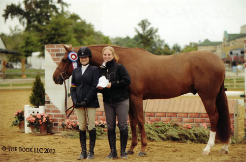 Lily Blavin and Pringle Champion Childrens Hunter 14 & Under 2012 Capital Challenge Photo The Book LLC