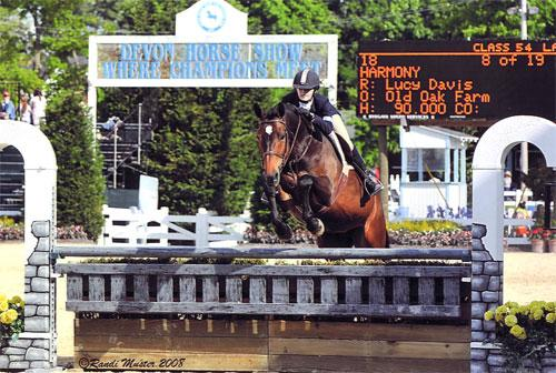 Lucy Davis and Harmony 2008 Devon Horse Show Photo Randi Muster