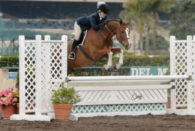 Polly Sweeney and Duet Champion Adult Amateur Hunter 51 & Over Best Adult Rider 2013 Del Mar National Photo Osteen