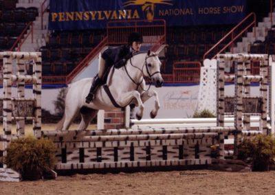 Skylar Nelson and Macy Grey Medium Pony Hunters 2009 Pennsylvania National Photo Al Cook