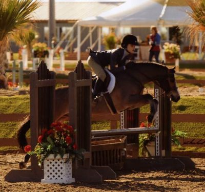 Skylar Nelson and Rainbow Canyon Circuit Champion Small Pony Hunters 2009 HITS Desert Circuit Photo Flying Horse