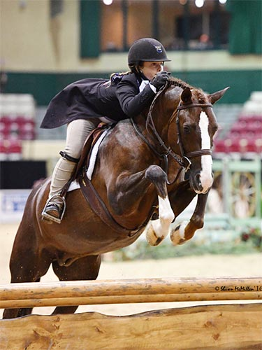 Stella Wasserman and Benetton Large Pony Hunter 2016 Capital Challenge Photo by Shawn McMillen
