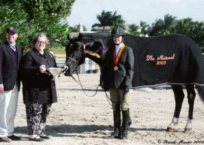 Stephanie Danhakl and Traditions 2003 USEF National Champion Small Junior Hunters 15 & Under 2003 National Horse Show Photo Randi Muster