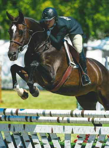 Virginia Fout and Toronto Reserve Champion Amateur Owner Hunter 2014 Menlo Charity Horse Show