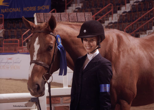 Gabi Langston and Azian Large Junior Hunters Winner 2009 Pennsylvania National Photo Al Cook