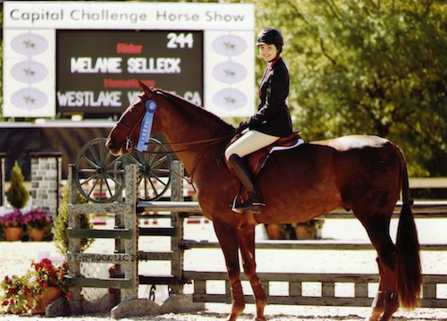 Melanie Selleck and Zenden Champion Equitation 15-year-old 2014 Capital Challenge Photo by The Book LLC