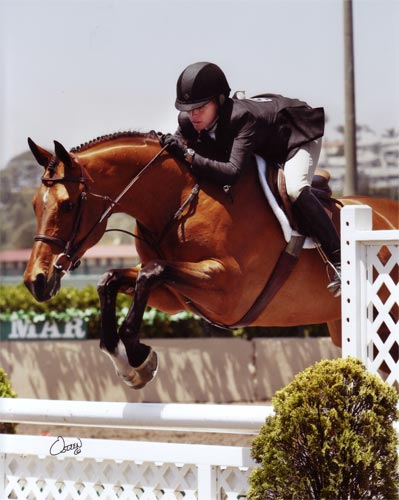 Teddi Mellencamp and Skyline 1st Year Green Hunters 2011 Del Mar National Photo Osteen