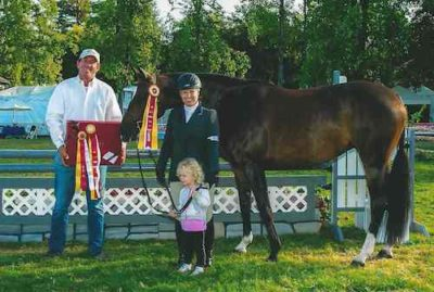 "Virginia Fout and Toronto Amateur Owner Hunter 3'3"" 2014 Menlo Charity Horse Show"