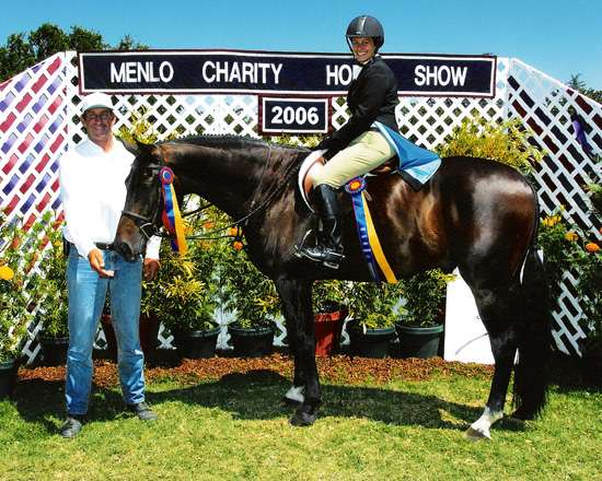 Glenda Morris and Mactler 2006 Year-End Champion Adult Amateur Hunters 18-35 Zone 10 and Pacific Coast Horse Show Association Menlo Charity Horse Show Photo JumpShot