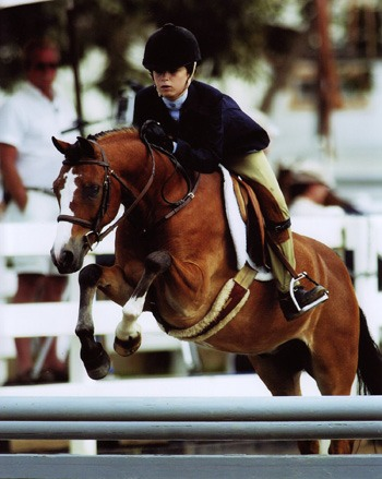 Grace Morton and Rainbow Canyon Top Ribbons Small Pony Hunters 2007 Oaks Blenheim Photo by JumpShot