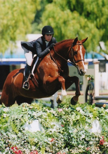 Teddi Mellencamp and Espri owned by Annette Peterfy Champion 2nd Year Green Hunters Oaks Blenheim Summer 2008