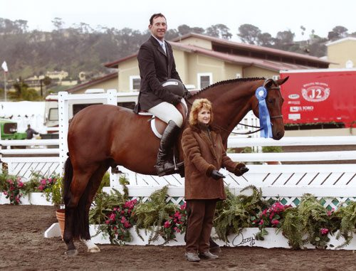Archie Cox on Granted owned by Portia de Rossi Regular Conformation Winner 2008 Del Mar National Photo Osteen