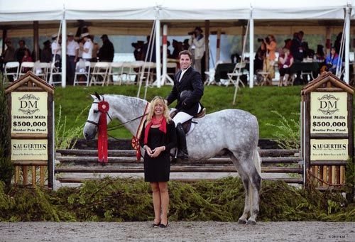Nick Haness and Cruise owned by Jessica Singer Reserve Champion 2011 HITS $500,000 Hunter Prix Saugerties NY Photo ESI