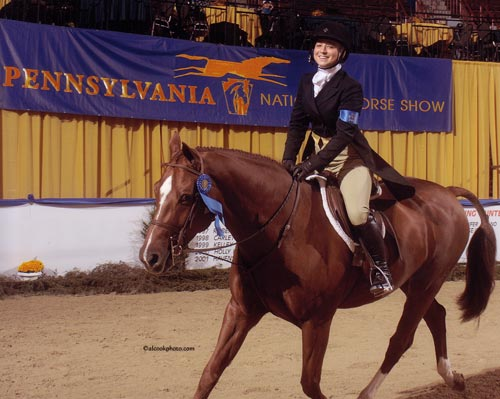 Alex Arute and Red Rooster Winner Junior Hunter Winners Stake 2009 Pennsylvania National Photo Al Cook