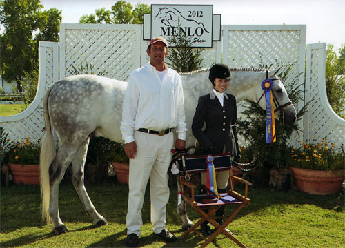 Jessica Singer and Cruise Champion Adult Hunter 2012 Menlo Charity Horse Show Photo by JumpShot