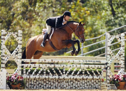 John French riding Boss owned by Laura Wasserman Future Hunters 6 & Over 2013 Capital Challenge Photo by The Book LLC