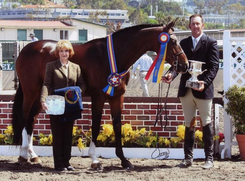 Archie Cox and Cullen owned by Annette Peterfly Champion 1st Year Green Conformation Hunters 2010 Del Mar National Photo Osteen