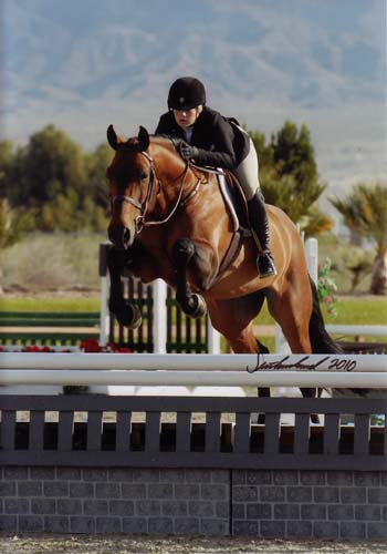 Ashley Pryde and Chaucer Reserve Champion Small Junior Hunters 16-17 M&S Medal Winner 2010 HITS Desert Circuit Photo Flying Horse