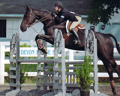 Stephanie Danhakl and Marcellus USEF Medal 2004 Devon Horse Show Photo JL Parker