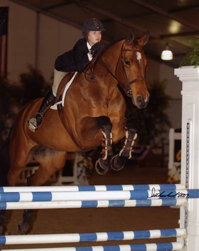 Zoie Nagelhout and Piper Equitation Winner 2009 HITS Desert Circuit Photo Flying Horse