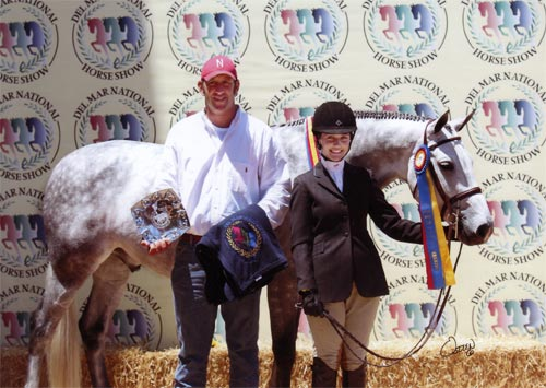 Jessica Singer and Cruise Champion Childrens Hunters 16-17 2010 Del Mar National Photo Osteen
