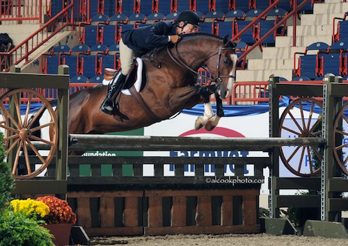 John French and Fine Design owned by Laura Wasserman Regular Conformation Hunter 2015 Pennsylvania National Photo Al Cook