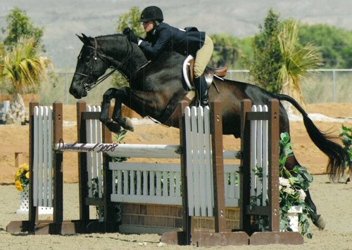Laura Ware and Parker 2008 HITS Desert Circuit Photo Flying Horse