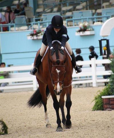 Lily Blavin and Montague Large Junior Hunter 16-17 2014 Devon Horse Show